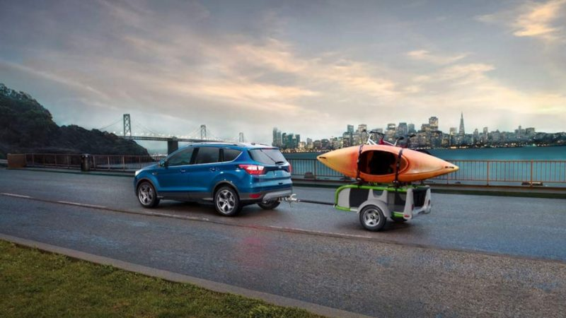 2017 ford escape performance exterior blue towing trailer