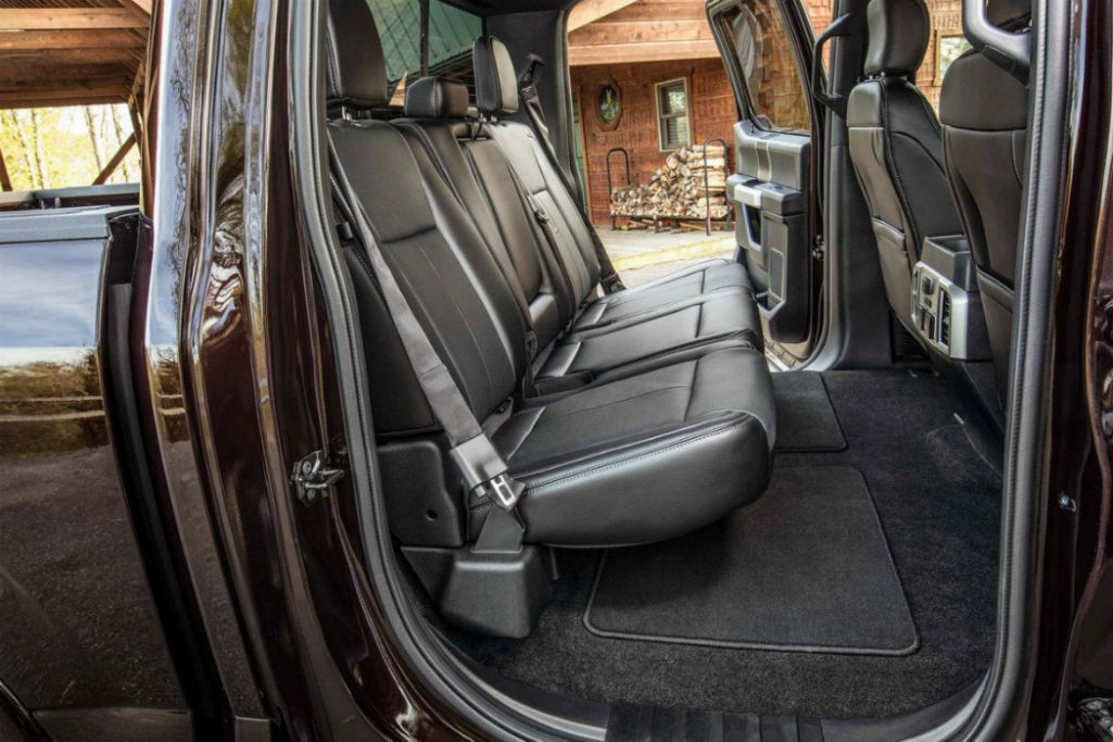 side view of the 2018 Ford F-150's rear seat