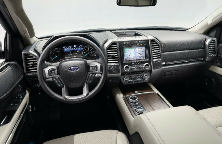 2018 ford expedition interior dashboard touchscreen steering wheel