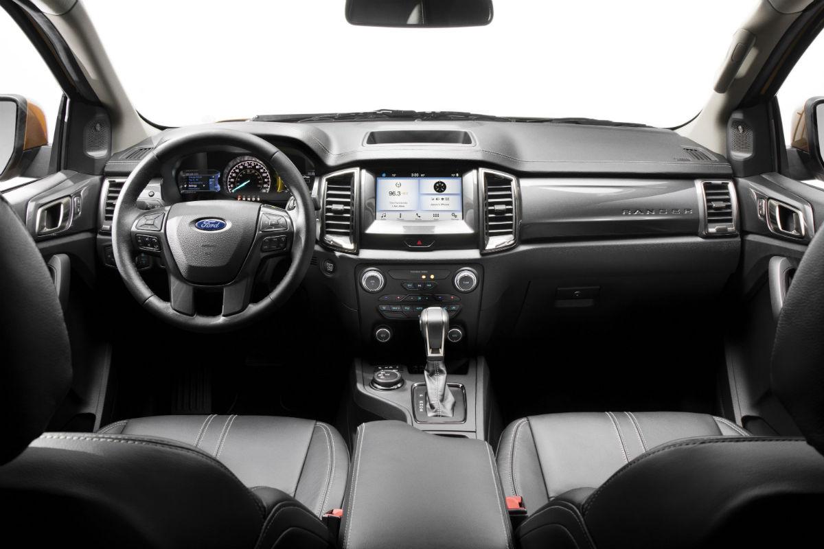 2019 Ford Ranger's driver's cockpit