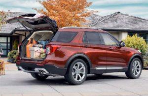 2020 Ford Explorer exterior back fascia and passenger side