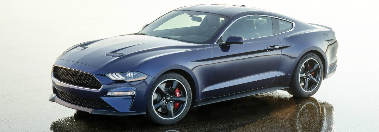 Side View of Kona Blue JDRF Ford Mustang Bullitt