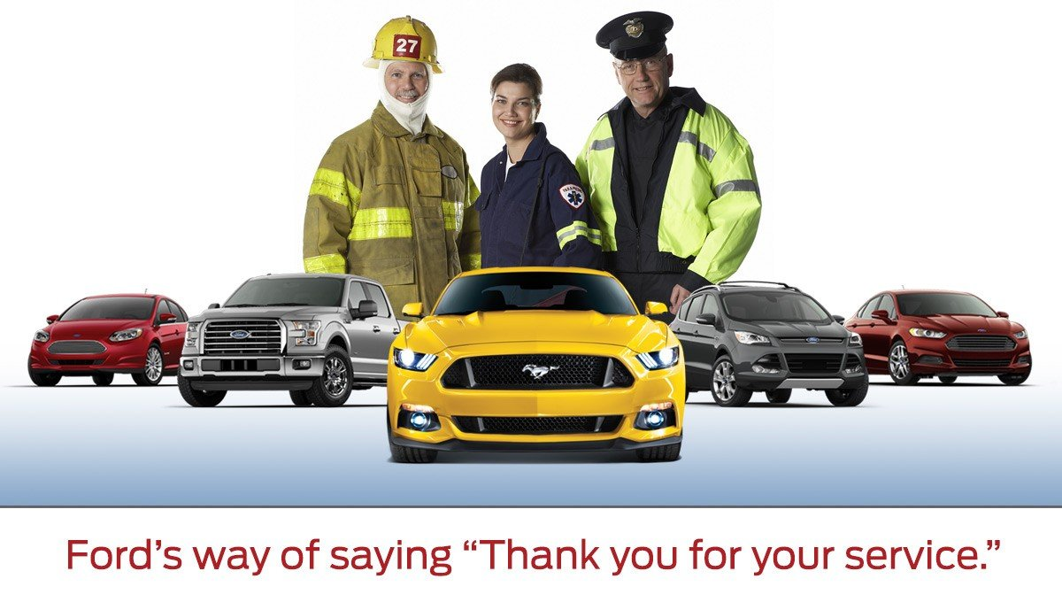 first responders in front of select ford models