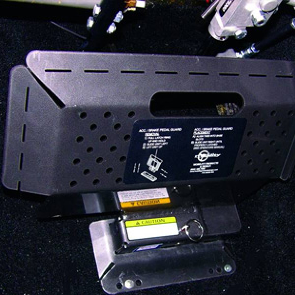 accelerator brake guard