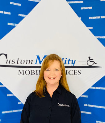 President Michelle Bennett in Admin at Custom Mobility