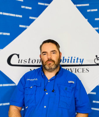 Mobile Service Technician AJ Wall in Mobile Service at Custom Mobility
