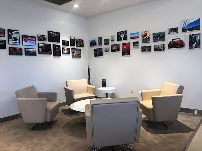 service waiting area at ken pollock alfa romeo