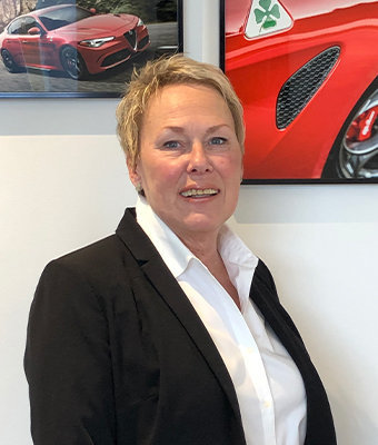 Business Manager Jeri Joyce in Sales at Ken Pollock Alfa Romeo