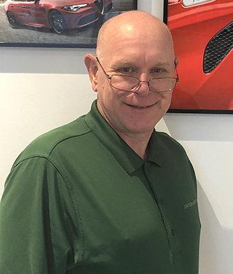 Service Manager Steven Steltz in Service at Ken Pollock Alfa Romeo