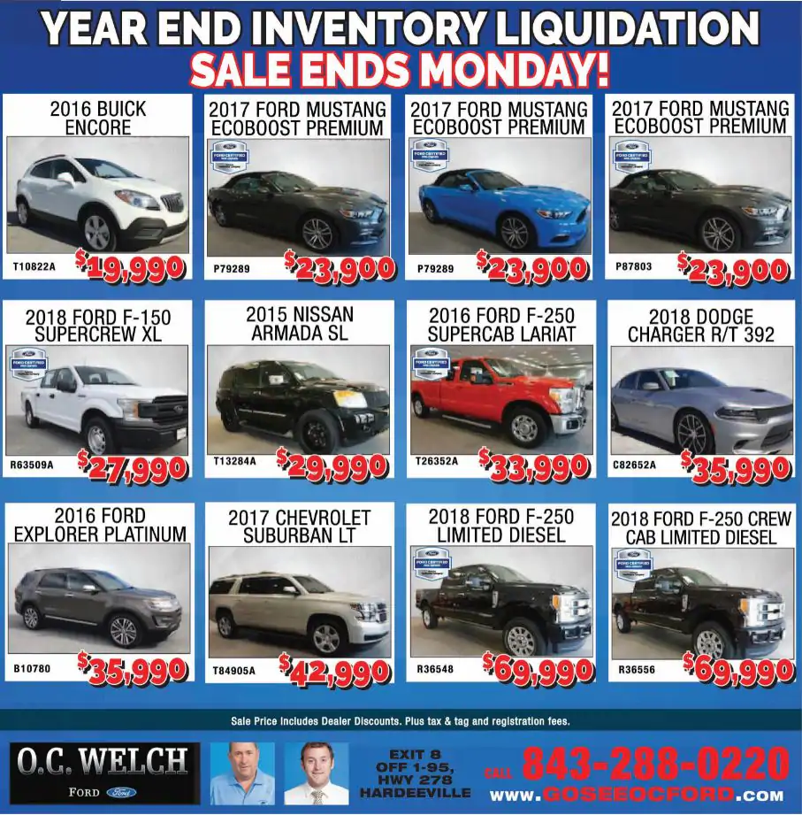 Current Advertising O. C. Welch Ford Lincoln Inc.