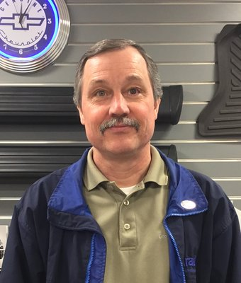 Parts Manager Larry Nall in Parts at Peach Chevrolet Buick GMC