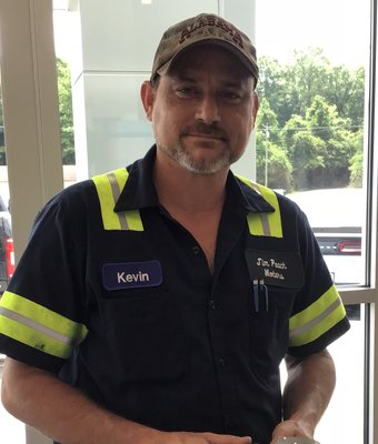 Wrecker Driver Kevin Hall in Service at Peach Ford