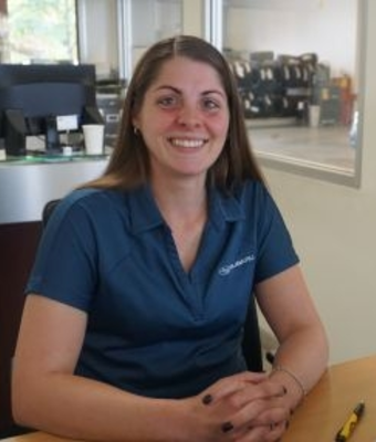 Service Advisor Christine Karash in Service at RC Lacy Ford Lincoln Subaru