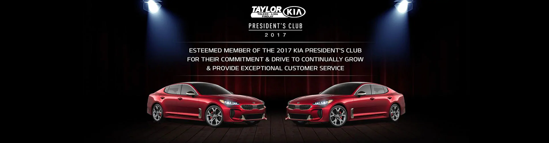 The Taylor Automotive Family President Club  Banner