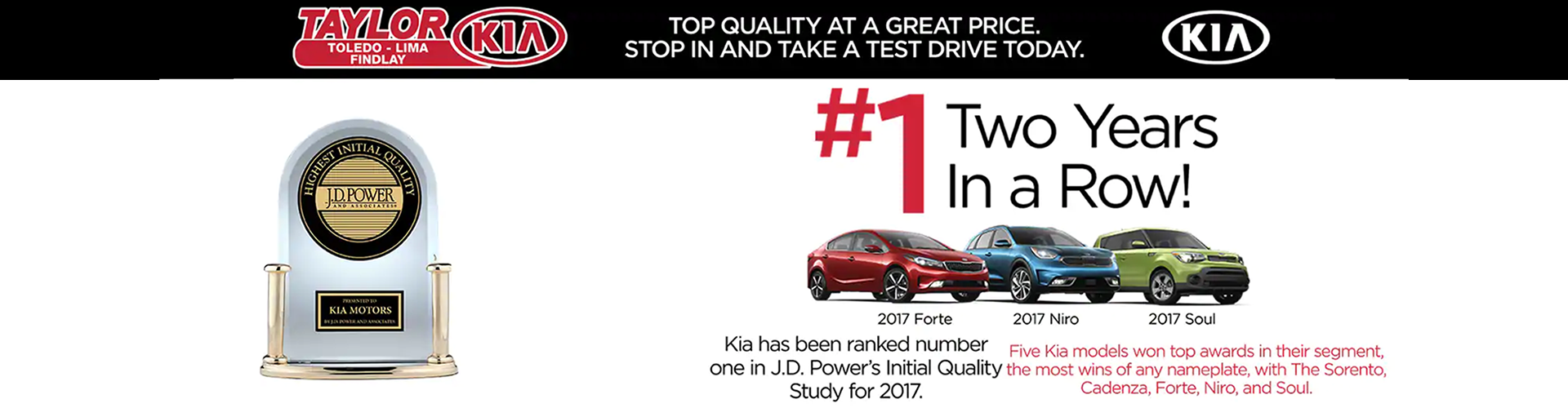 The Taylor Automotive Family Kia Banner