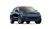blue 4 door lincoln mkc driving down route 85 in Atlanta GA