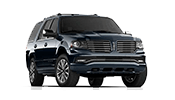 black lincoln navigator suv parked out front of our lincoln dealership