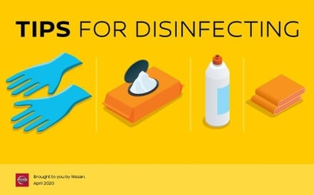 tips for disinfecting your vehicle