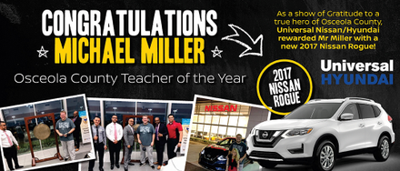 Michael Miller named Teacher of the Year