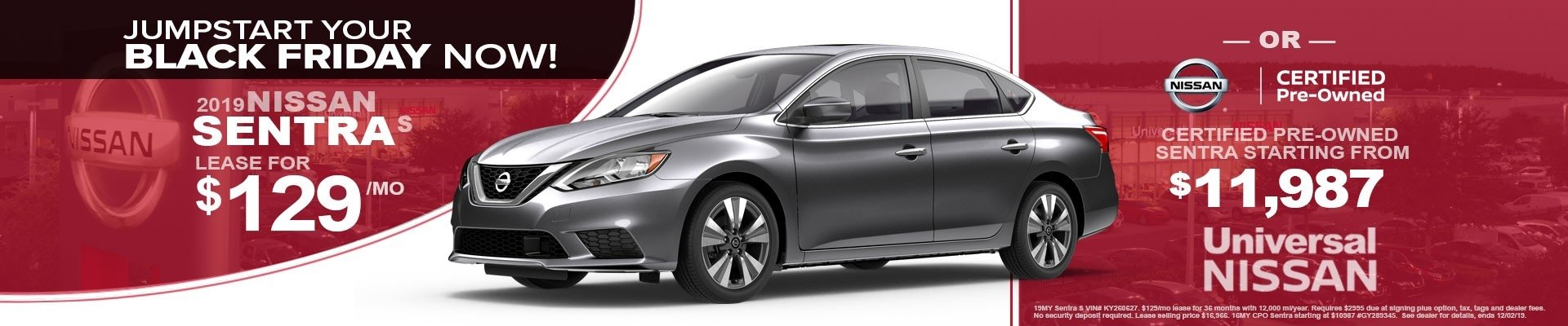 SENTRA Leases Starting at $129 Per Month