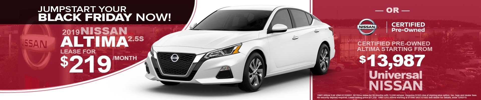 ALTIMA Leases Starting at $219 Per Month