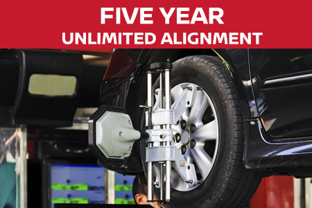 Coupon for Five Year Unlimited Alignment