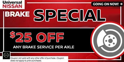 Coupon for Brake Special $25 Off Any Brake Special Per Axle