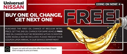 Coupon for Buy One Oil Change, Get Next One Free!