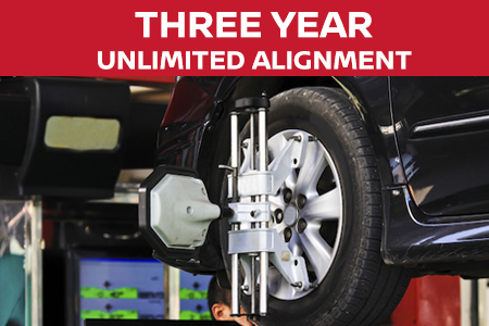 Coupon for Three Year Unlimited Alignment