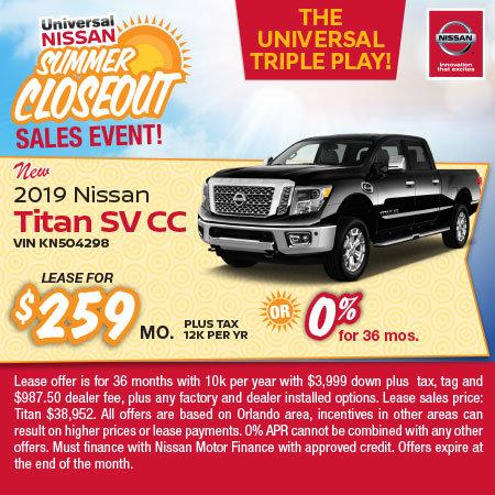 New Nissan Titan SL For Sale In Orlando FL