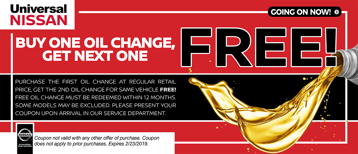 Buy One Get One Oil Change Offer