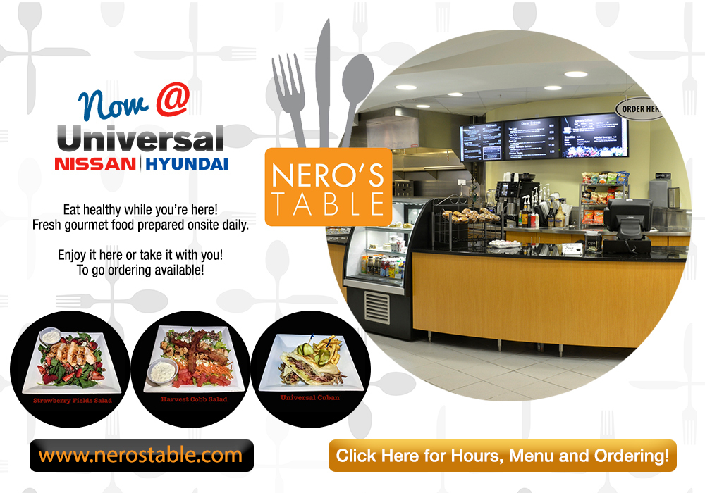 Nero's Table Cafe in Universal Nissan
