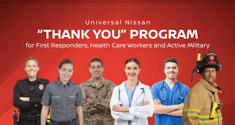 Universal Nissan 'Thank You' Program for First Responders, Health Care Workers and Active Military