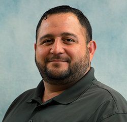 Parts Manager Andres Salazar in Parts at Universal Nissan