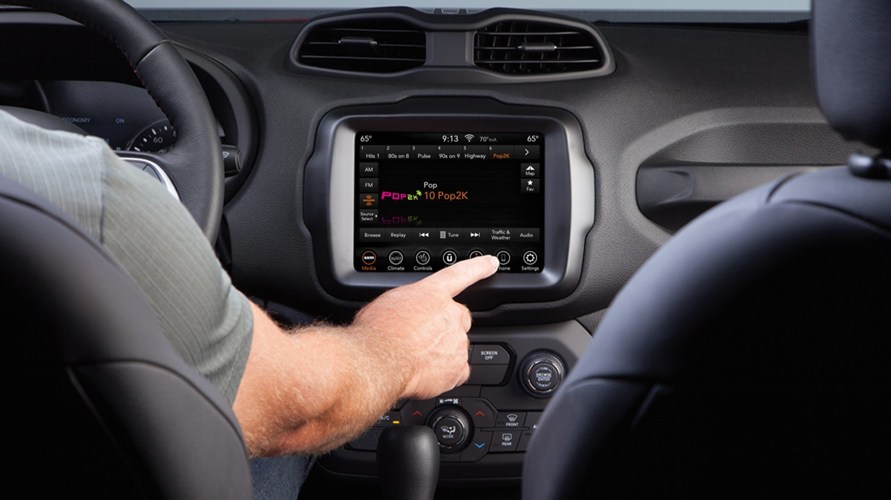 Technology in the Renegade.