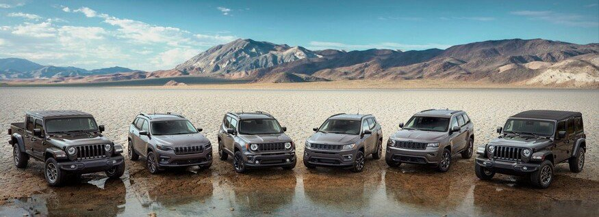 80th Anniversary Editions Jeep Lineup
