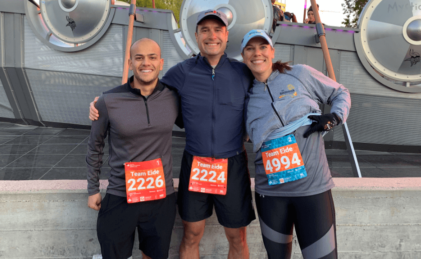 Eide employees at the Twin Cities Marathon