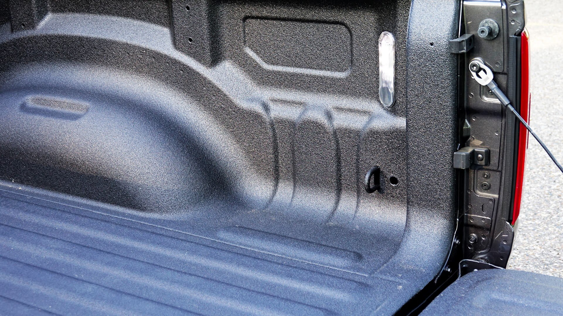 Spray-in bedliner on a RAM truck