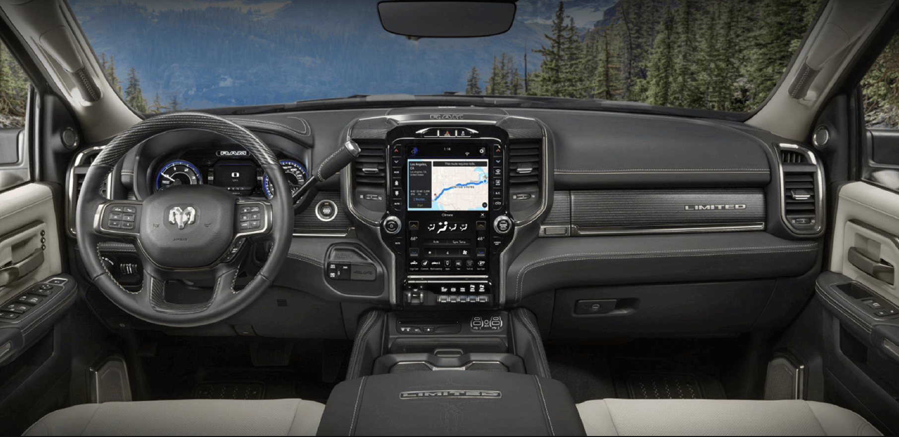 Interior tech of the RAM 2500