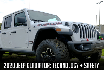 Technology and Safety of the 2020 Jeep Gladiator in Pine City