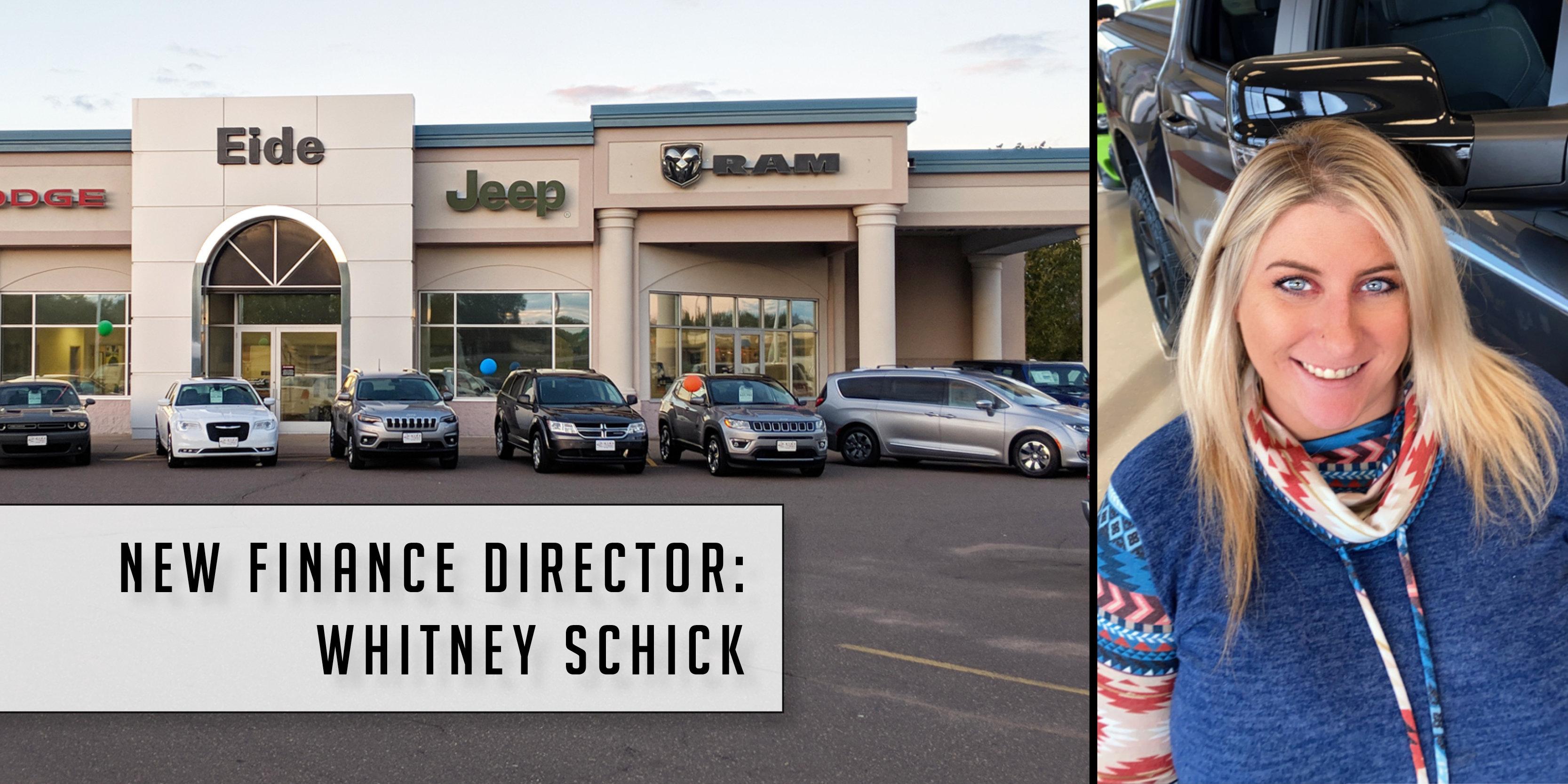 Whitney Schick joins Eide Chrysler Pine City team as new Finance Director