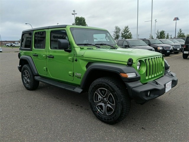 Lease this 2018, Green, Jeep, Wrangler, Unlimited Sport S