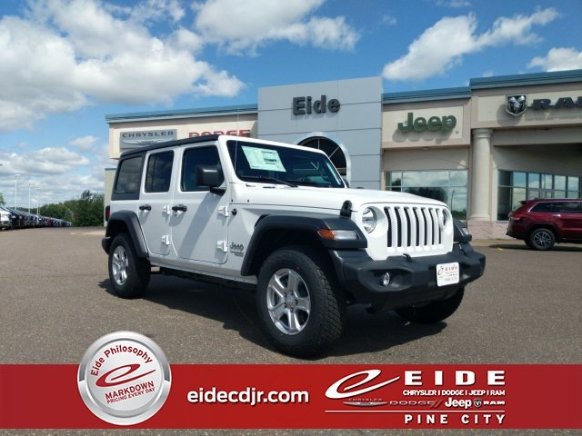 Lease this 2019, White, Jeep, Wrangler, Unlimited Sport S