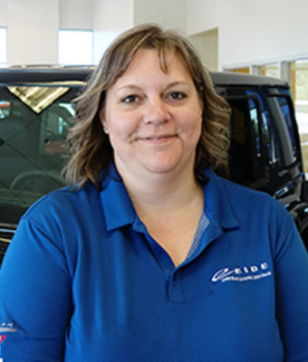 Parts Manager Gayle Kozak in Management at Eide CDJR Pine City