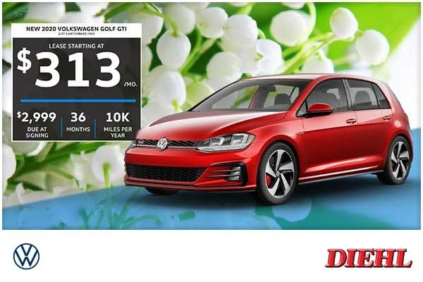 Special offer on 2020 Volkswagen Golf GTI NEW 2020 VOLKSWAGEN GOLF GTI 2.0T S HATCHBACK FWD