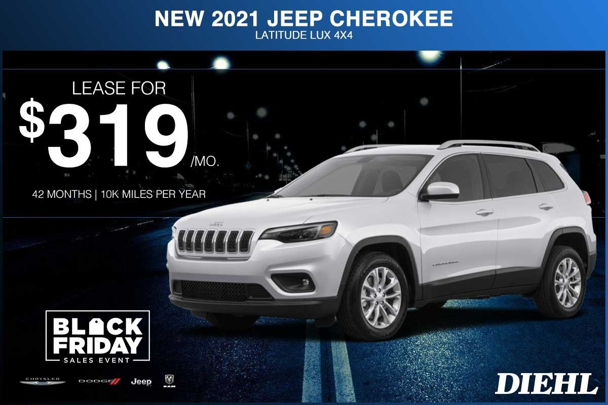Special offer on 2021 Jeep Cherokee NEW 2021 JEEP CHEROKEE LATITUDE LUX 4X4