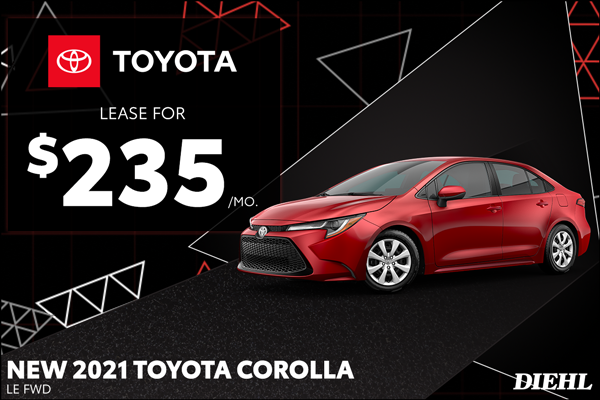 Special offer on 2021 Toyota Corolla 2021 COROLLA