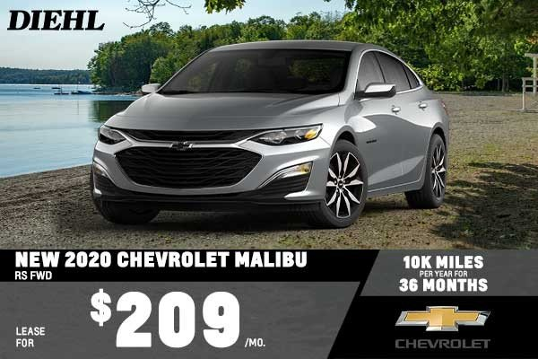 Special offer on 2020 Chevrolet Malibu NEW 2020 CHEVROLET MALIBU RS FWD