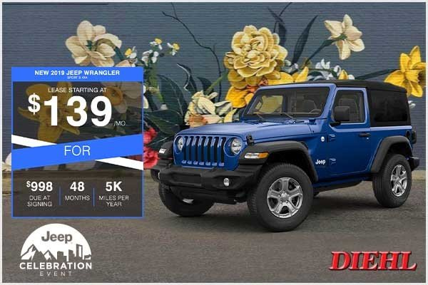 Special offer on 2019 Jeep Wrangler NEW 2019 JEEP WRANGLER SPORT S 2D 4X4