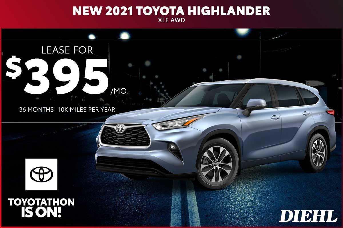 Special offer on 2020 Toyota Highlander NEW 2021 TOYOTA HIGHLANDER XLE AWD